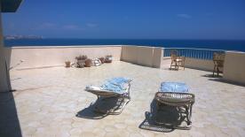 Large sun terrace affords uninterrupted panoramic sea views.