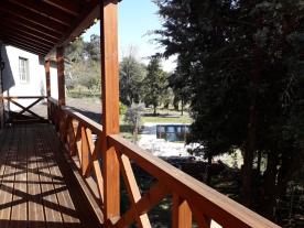 Balcony overlooking the swimming pool