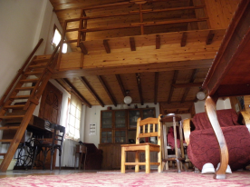 the stairs leading to the attic