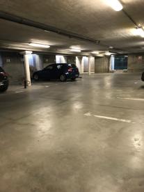 Underground parking area in basement of Villa