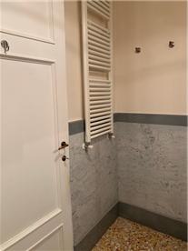 Second bathroom. Heated towel rail.
