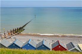 Beach huts Sheringham beach