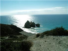 The nearby coast