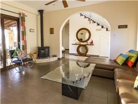 Open plan lounge and kitchen area Balmoral Villa.