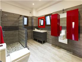 Luxury contemporary shower room off master bedroom Balmoral Villa.