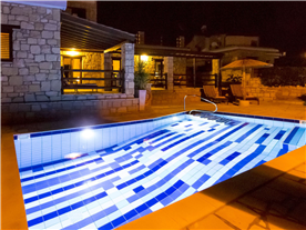 Night by the pool Balmoral Villa.