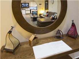 Mirror image of lounge Balmoral Villa,