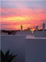 Stunning sunsets viewed from the upper terrace.