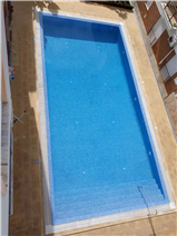 View of the pool from the upper terrace.