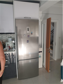 New kitchen with brushed steel appliances (Siemens)