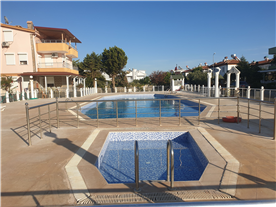 Adult Olympic size pool and children pool.