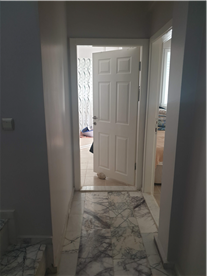 Second Floor Hallway with real marble flooring