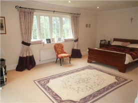 Master bedroom with unsuite