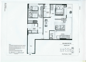 flat hotel plan model. 1 hall brings you to 2 doors (suite + loft) possible to rent for 2 people