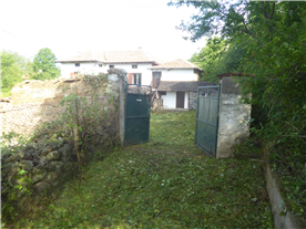 Drive and gates to property