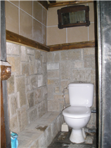 Downstairs toilet in converted cow shed