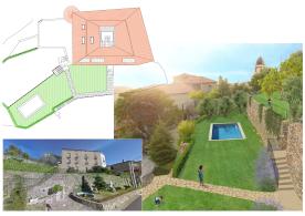 Giardino e piscina (progetto)/ Garden and  swimming pool