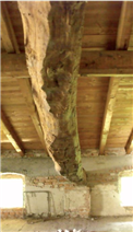 Detail of the first floor roof