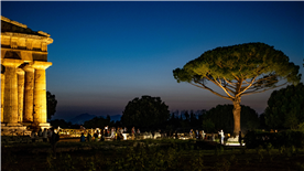 Paestum entry is free in some summer evenings to host music and star-gazing within the site.
