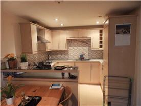 Integral open plan kitchen