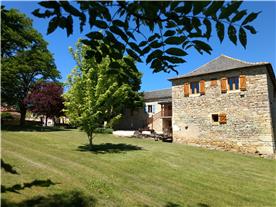 Barn and main house