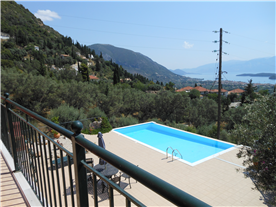 Roof terrace view of the pool