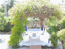 Top of the garden at front beyond the pool