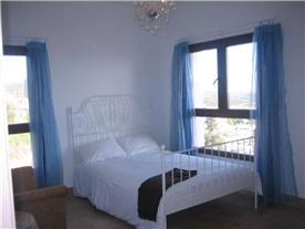 Bedroom with sea views.