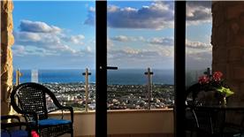 Balcony view to the Mediterranean Sea.