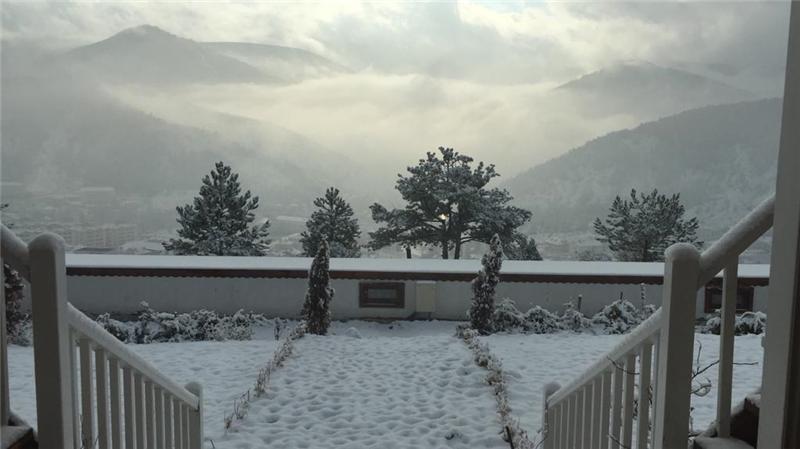 entrance in winter