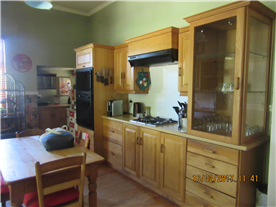 Farm style kitchen with pantry