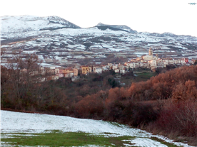The mountain of Frosolone in winter