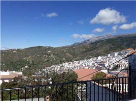 View of the village rooftops from the roof terrace