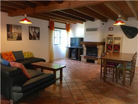 Gite open plan living area/ dinning room