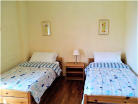 One of the bedrooms in Villa Hibiscus
