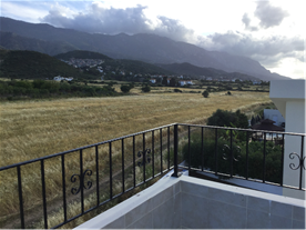 Rear view from roof terrace of mountains