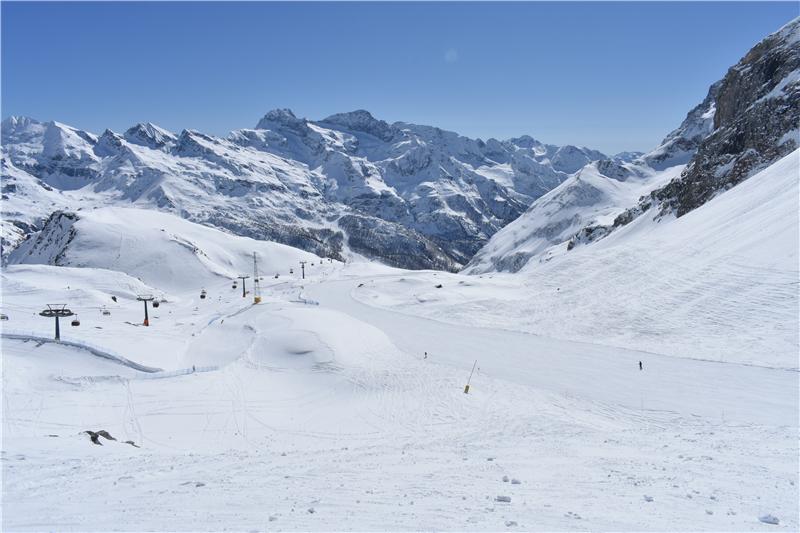 A view of the Monerosa Ski resort