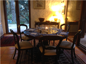 Indoor dining area for Winter evenings
