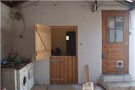 Laundry area & entrance to workshop