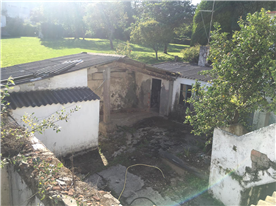 View of the patio and land from the second floor