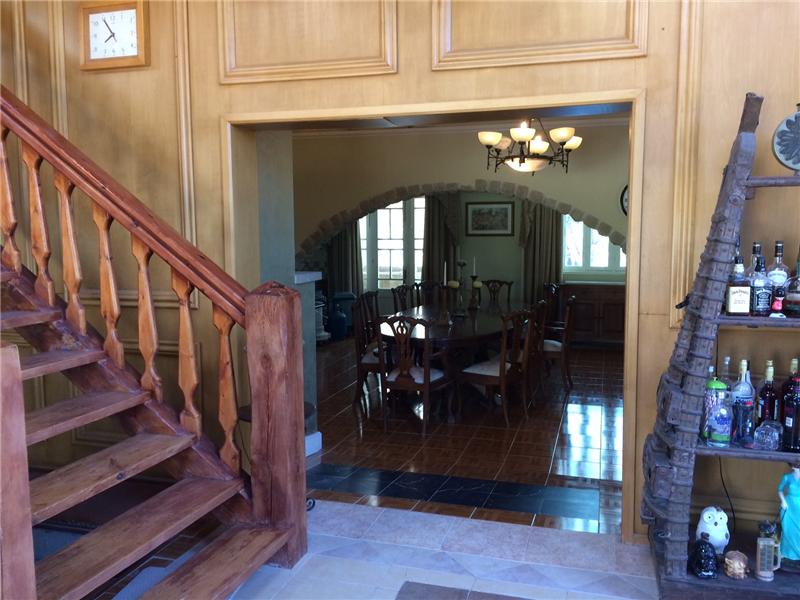 Stairs and entrance to dining room