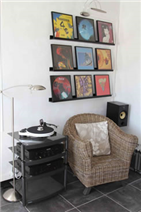 Music corner in lounge