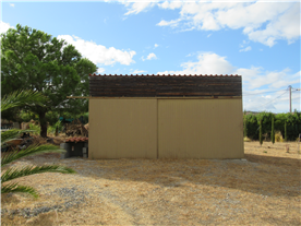 Large barn with double sliding metal doors