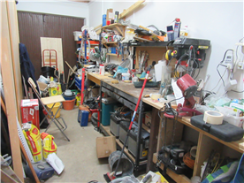 Useful but untidy workshop
