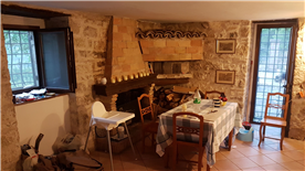 kitchen. fireplace and bread oven.