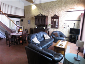 Living-area in spacious gîte