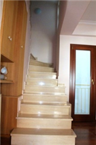Beautiful marble staircase leading to all floors