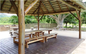 BBQ and outdoor entertainment area