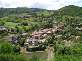 View of La Bessounede (far right) from the Chateau