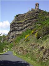 Chateau on the basalt rock